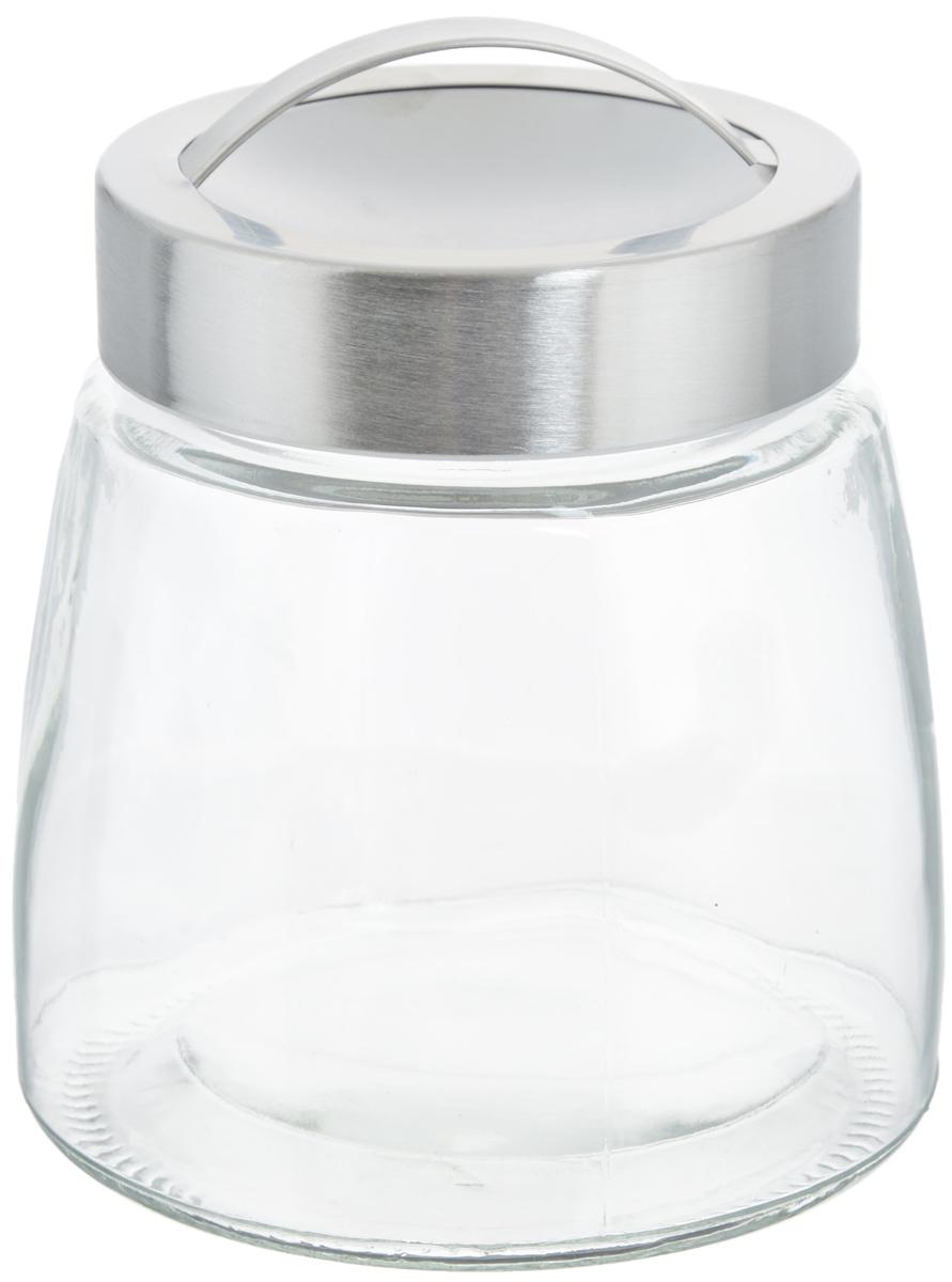 Банка для хранения Zeller, 900 мл19760Банка Zeller, изготовленная из прочного стекла, снабжена металлической крышкой, которая плотно закрывается, дольше сохраняя аромат и свежесть содержимого. На крышке имеется эргономичная ручка для удобной переноски. Изделие подходит для хранения сыпучих продуктов: круп, чая, специй, орехов, сахара, соли и многого другого. Функциональная и вместительная, такая банка станет незаменимым аксессуаром на любой кухне. Диаметр банки (по верхнему краю): 9 см. Высота банки (без учета крышки): 12 см.