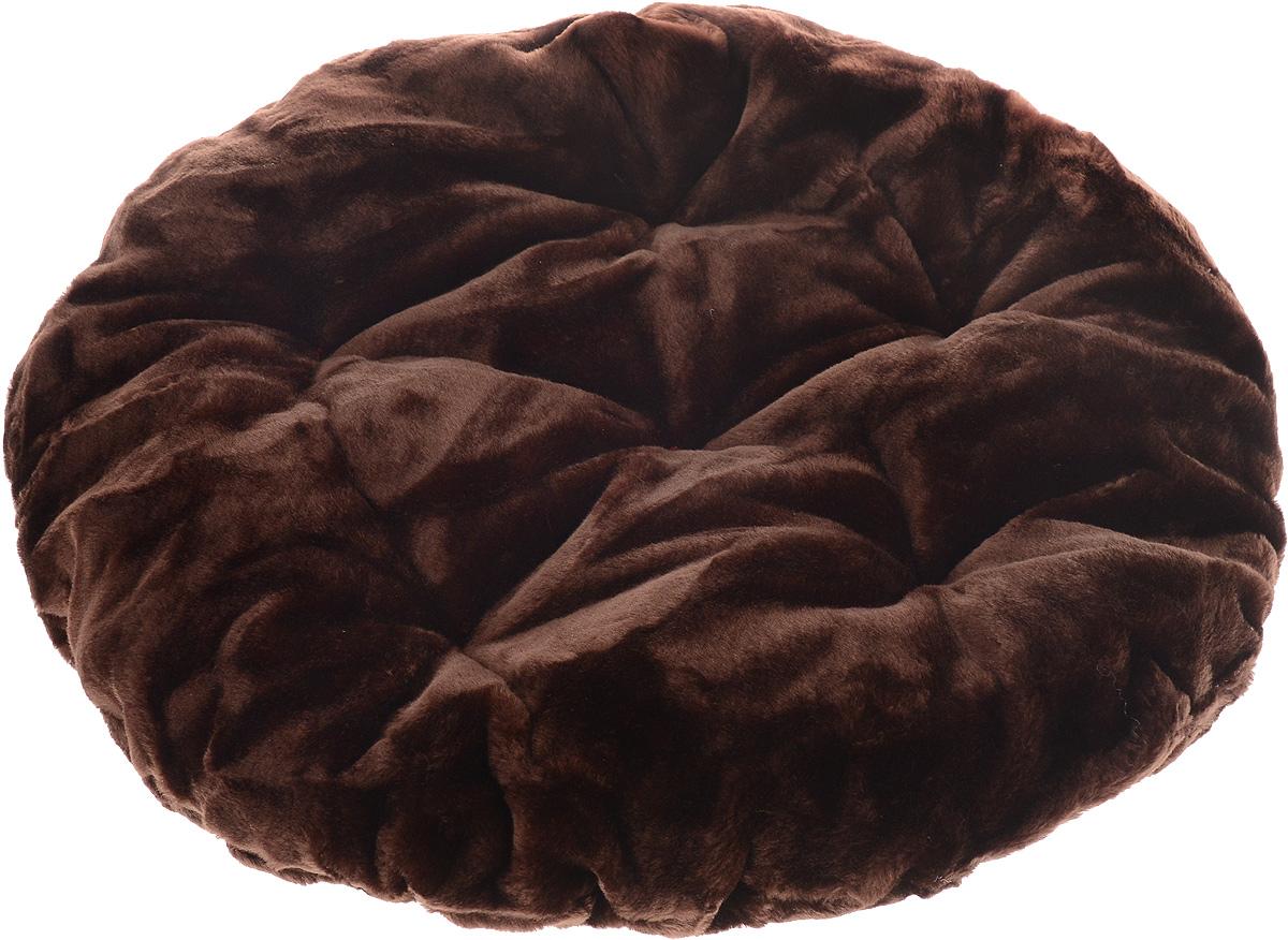 Лежак для животных ЗооМарк Лаваш, цвет: темно-коричневый, диаметр 60 см004172Лежак ЗооМарк Лаваш обязательно понравится вашему питомцу. Он выполнен из высококачественного искусственного меха, а наполнитель из мягкого синтепуха. Такой материал не теряет своей формы долгое время. Мягкий лежак станет излюбленным местом вашего питомца, подарит ему спокойный и комфортный сон, а также убережет вашу мебель от многочисленной шерсти. Диаметр: 60 см. Высота: 10 см.