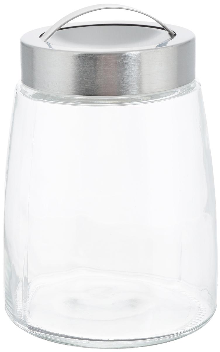 Банка для хранения Zeller, 1,2 л19761Банка Zeller, изготовленная из прочного стекла, снабжена металлической крышкой, которая плотно закрывается, дольше сохраняя аромат и свежесть содержимого. На крышке имеется эргономичная ручка для удобной переноски. Изделие подходит для хранения сыпучих продуктов: круп, чая, специй, орехов, сахара, соли и многого другого. Функциональная и вместительная, такая банка станет незаменимым аксессуаром на любой кухне. Диаметр банки (по верхнему краю): 9 см. Высота банки (без учета крышки): 16 см.
