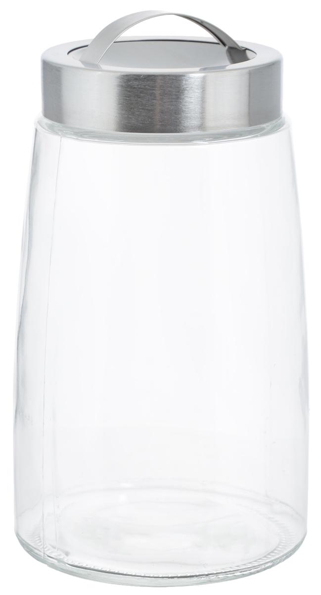 Банка для хранения Zeller, 1,5 л19762Банка Zeller, изготовленная из прочного стекла, снабжена металлической крышкой, которая плотно закрывается, дольше сохраняя аромат и свежесть содержимого. На крышке имеется эргономичная ручка для удобной переноски. Изделие подходит для хранения сыпучих продуктов: круп, чая, специй, орехов, сахара, соли и многого другого. Функциональная и вместительная, такая банка станет незаменимым аксессуаром на любой кухне. Диаметр банки (по верхнему краю): 9 см. Высота банки (без учета крышки): 20,5 см.