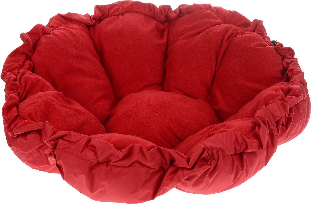 Лежак для животных ЗооМарк Тыква, цвет: красный, диаметр 90 см4177_красныйЛежак ЗооМарк Тыква, выполненный из текстиля, обязательно понравится вашему питомцу. Он очень удобный и уютный. Ваш любимец сразу же захочет забраться на лежак, там он сможет отдохнуть и подремать в свое удовольствие. Приятная цветовая гамма сделает изделие оригинальным дополнением к любому интерьеру. С помощью затягивающегося шнурка вы можете сделать у лежака бортики. Диаметр лежака: 90 см. Высота: 10 см.