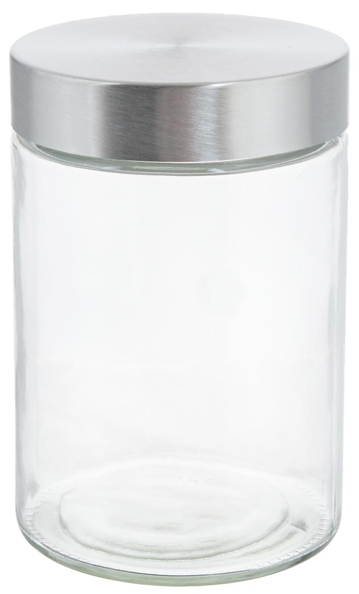 Банка для хранения Zeller, 1,1 л19917Банка Zeller, изготовленная из прочного стекла, снабжена металлической крышкой, которая плотно и герметично закрывается, дольше сохраняя аромат и свежесть содержимого. Изделие подходит для хранения сыпучих продуктов: круп, чая, специй, орехов, сахара и многого другого. Функциональная и вместительная, такая банка станет незаменимым аксессуаром на любой кухне. Диаметр банки (по верхнему краю): 10 см. Высота банки (без учета крышки): 16,7 см.