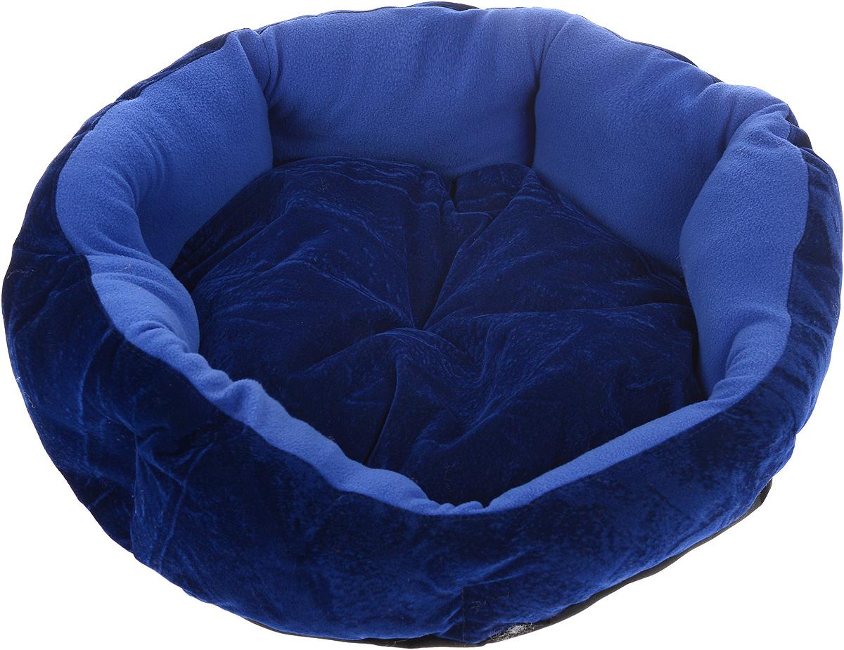 Лежак для животных ЗооМарк Цветочек, цвет: синий, диаметр 46 смЛЦ-1_синийМягкий лежак для собак ЗооМарк Цветочек обязательно понравится вашему питомцу. Он выполнен из высококачественных материалов, а наполнитель из мягкого синтепуха. Такой материал не теряет своей формы долгое время. Высокие борта обеспечат вашему любимцу уют. Лежак оснащен съемной подстилкой. Лежак ЗооМарк Цветочек станет излюбленным местом вашего питомца, подарит ему спокойный и комфортный сон, а также убережет вашу мебель от многочисленной шерсти. Диаметр: 46 см. Высота: 16 см.