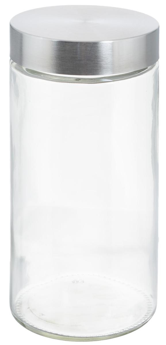 Банка для хранения Zeller, 1,6 л19918Банка Zeller, изготовленная из прочного стекла, снабжена металлической крышкой, которая плотно и герметично закрывается, дольше сохраняя аромат и свежесть содержимого. Изделие подходит для хранения сыпучих продуктов: круп, чая, специй, орехов, сахара и многого другого. Функциональная и вместительная, такая банка станет незаменимым аксессуаром на любой кухне. Диаметр банки (по верхнему краю): 10 см. Высота банки (без учета крышки): 22 см.