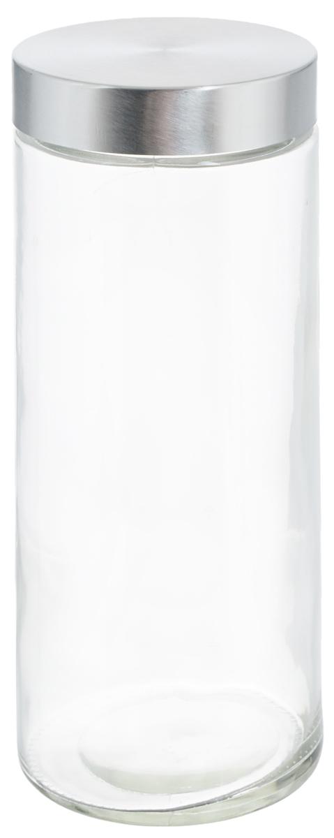 Банка для хранения Zeller, 2,1 л. 1991919919Банка Zeller, изготовленная из прочного стекла, снабжена металлической крышкой, которая плотно и герметично закрывается, дольше сохраняя аромат и свежесть содержимого. Изделие подходит для хранения сыпучих продуктов: круп, чая, специй, орехов, сахара и многого другого. Функциональная и вместительная, такая банка станет незаменимым аксессуаром на любой кухне. Диаметр банки (по верхнему краю): 10 см. Высота банки (без учета крышки): 27 см.