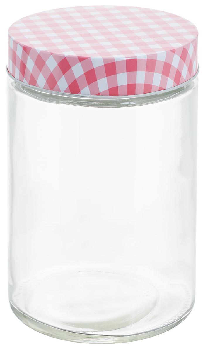 Банка для хранения Zeller, цвет: прозрачный, розовый, 1,15 л19781Универсальная банка Zeller, изготовленная из прочного стекла, снабжена металлической крышкой, которая плотно закрывается, дольше сохраняя аромат и свежесть содержимого. Изделие подходит для хранения сыпучих продуктов: круп, специй, орехов, сахара, соли и многого другого. Функциональная и вместительная, такая банка станет незаменимым аксессуаром на любой кухне. Диаметр банки (по верхнему краю): 10 см. Высота банки (без учета крышки): 17 см.