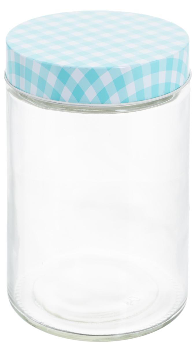 Банка для хранения Zeller, цвет: прозрачный, бирюзовый, 1,15 л19781_прозрачный, бирюзовыйУниверсальная банка Zeller, изготовленная из прочного стекла, снабжена металлической крышкой, которая плотно закрывается, дольше сохраняя аромат и свежесть содержимого. Изделие подходит для хранения сыпучих продуктов: круп, специй, орехов, сахара, соли и многого другого. Функциональная и вместительная, такая банка станет незаменимым аксессуаром на любой кухне. Диаметр банки (по верхнему краю): 10 см. Высота банки (без учета крышки): 17 см.