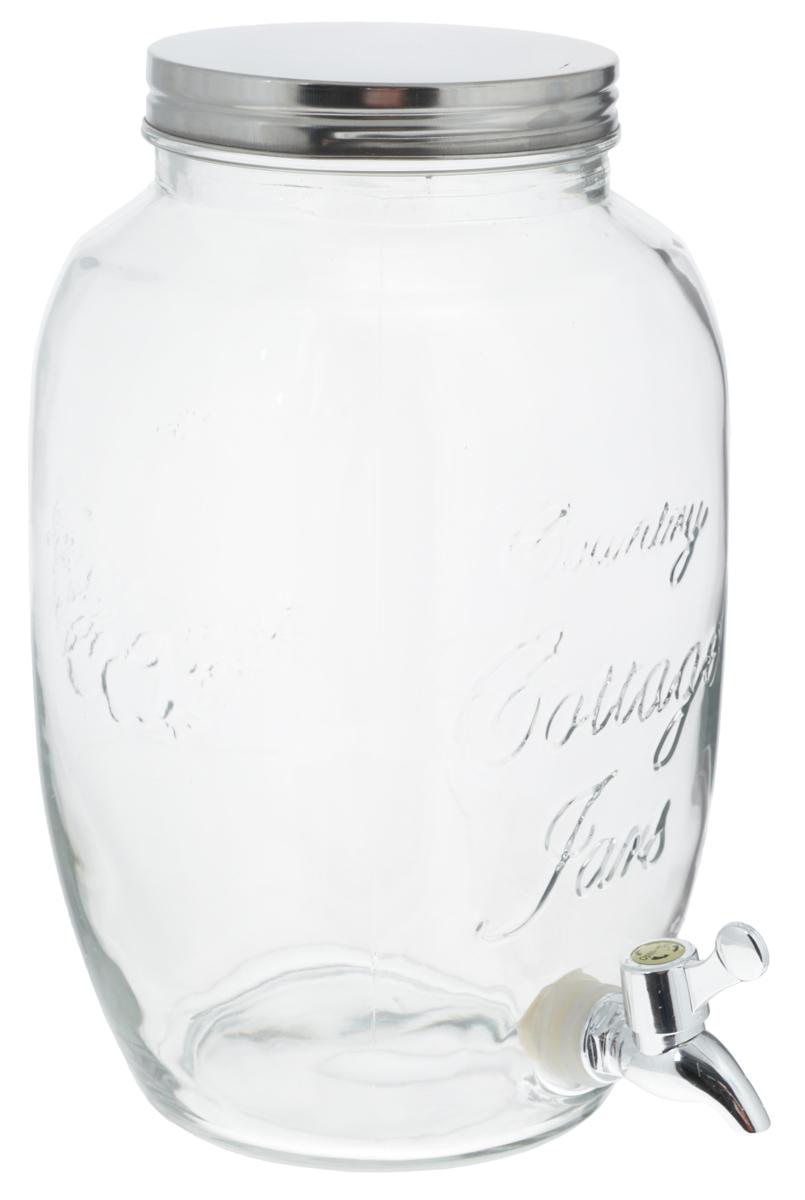 Банка для напитков Zeller, с краном, 5 л19725Банка Zeller, выполненная из прочного стекла, оснащена металлической крышкой и пластиковым краном для выливания жидкости. Изделие станет идеальным вариантом для хранения и подачи полезных лимонадов, ароматных свежевыжатых соков и других напитков. Такая банка украсит интерьер любой кухни и станет отличным подарком для ваших родных и близких. Диаметр банки (по верхнему краю): 12,5 см. Высота банки (без учета крышки): 30 см.
