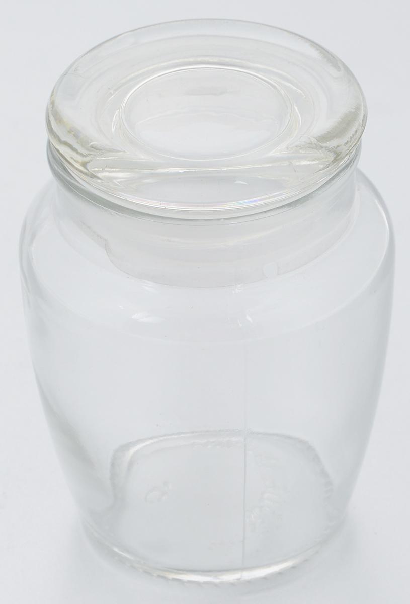 Банка для хранения Zeller, 300 мл19964Банка Zeller, выполненная из прочного высококачественного стекла, предназначена для сыпучих продуктов или специй. Стеклянная крышка с пластиковой прокладкой, делает изделие герметичной, придает дизайну особый стиль. Такая банка оригинально подходит к интерьеру любой кухни. Диаметр по верхнему краю: 5,5 см. Высота (с учетом крышки): 9,5 см.
