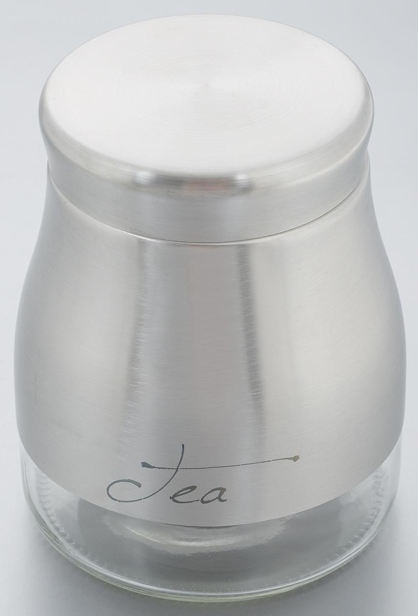 Банка для хранения Zeller Tea, 900 мл19890Банка Zeller Tea предназначена для хранения чая. Изделие выполнено из стекла и нержавеющей стали с хромированной поверхностью. Банка имеет стильный современный дизайн, отличается практичностью и функциональностью. Оригинальная банка модного дизайна будет отлично смотреться на вашей кухне. Диаметр по верхнему краю: 8 см. Высота (с учетом крышки): 14,5 см.