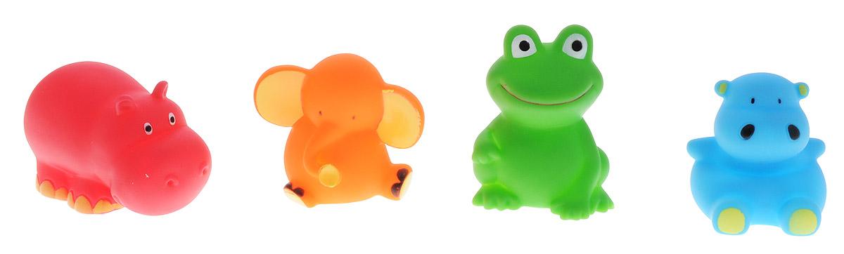BabyOno Набор игрушек для ванной Животные 4 шт867Набор игрушек для ванной BabyOno Животные - это лягушка, слоник, и 2 бегемота - четверо друзей, которые очень любят воду. Игрушки сделают приятным каждое купание, а благодаря интенсивным цветам легко отыщутся даже под толстым слоем пены. Игрушки для ванной учат различать цвета и формы, дают ребенку возможность наблюдать за поведением предметов в воде. Игрушки небольшие по размеру, благодаря чему легко захватываются маленькими ручками. Набор игрушек для ванной BabyOno Животные изготовлен из качественных и безопасных материалов и упакован в практичную пластиковую сумку с ручками, закрывающуюся на замок-молнию. Товар сертифицирован.