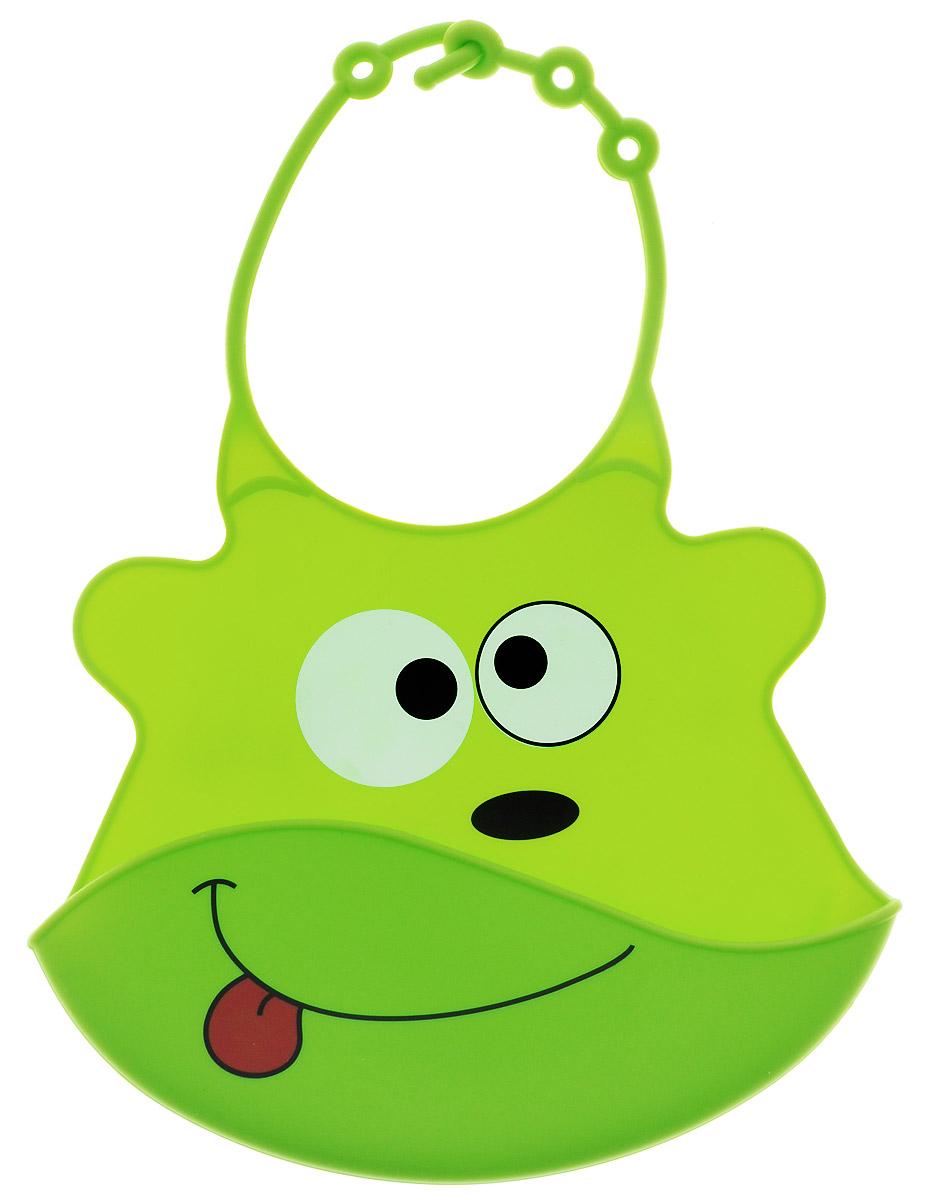 BabyOno Нагрудник цвет светло-зеленый