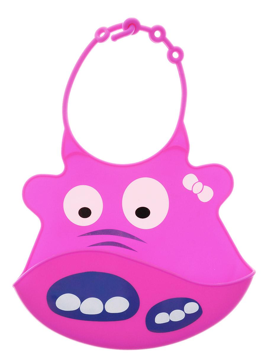 BabyOno Нагрудник цвет розовый1343_розовыйГибкий нагрудник BabyOno с регулируемой застежкой защитит одежду малыша во время кормления и избавит родителей от дополнительных хлопот. Изготовлен из безопасных материалов, обеспечивающих длительное использование. Имеет удобный отворот, куда будет падать еда, которую малыш выплюнет или случайно уронит. Оформлен нагрудник смешной мордочкой. Перед первым использованием следует ополоснуть изделие кипятком и высушить. Не содержит бисфенол А. Товар сертифицирован.