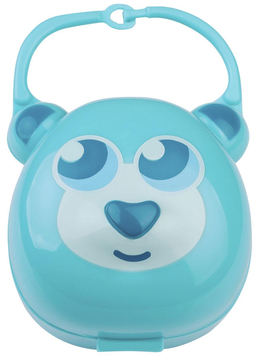 BabyOno Футляр для пустышки Мишка цвет светло-бирюзовый
