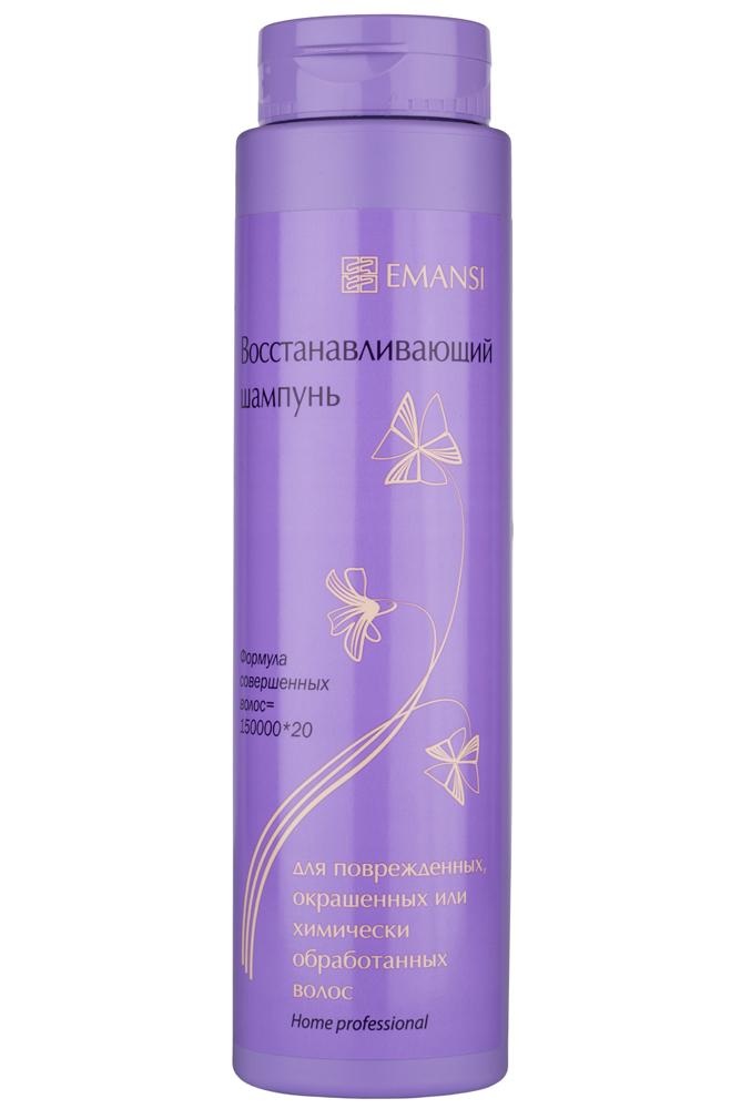 Emansi Восстанавливающий шампунь для поврежденных, окрашенных или химически обработанных волос, Формула совершенных волос = 150000х20, 250 мл2229ПАВы в сферолитовой фазе обеспечивают чистоту волос и кожи головы. Сферолитовая фаза ПАВ — это специально структурированная система ПАВ (без натрий лаурет сульфата), позволяющая включать оптимальные концентрации растительных масел для питания и увлажнения* кожи головы и волос — 5%, в отличие от обычных структур, способных включать только 0,5%, и очень важно — удерживать введенные масла на волосах и коже головы! Введенные в сферолитовую фазу ПАВ масло крамбе** и сои обеспечивают укрепление структуры кожи головы и волос и как следствие — их увлажнение. Гидролизованные белки шелка*** обеспечивают защиту волос от повреждений, придают блеск и объем волосам, делают их мягкими и гибкими, облегчая расчесывание сухих и мокрых волос не обладают эффектом накопления, защищают окрашенные волосы от вымывания красителя плантафлюид PV-1: экстракт алоэ, листа березы, ромашки, золотого проса, хвоща, шалфея, листа крапивы, камелии китайской, лопуха, хны + кальций пантотенат + ниацин...