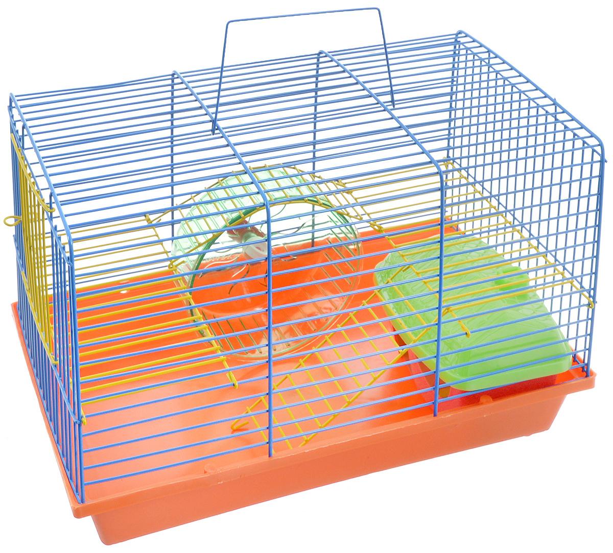 Клетка для грызунов Зоомарк Венеция, 36 х 23 х 24 см.145кКлетка Зоомарк Венеция, выполненная из полипропилена и металла, подходит для грызунов. Она оборудована колесом для подвижных игр и домиком. Клетка имеет яркий поддон, удобна в использовании и легко чистится. Такая клетка станет уединенным личным пространством и уютным домиком для маленького грызуна.