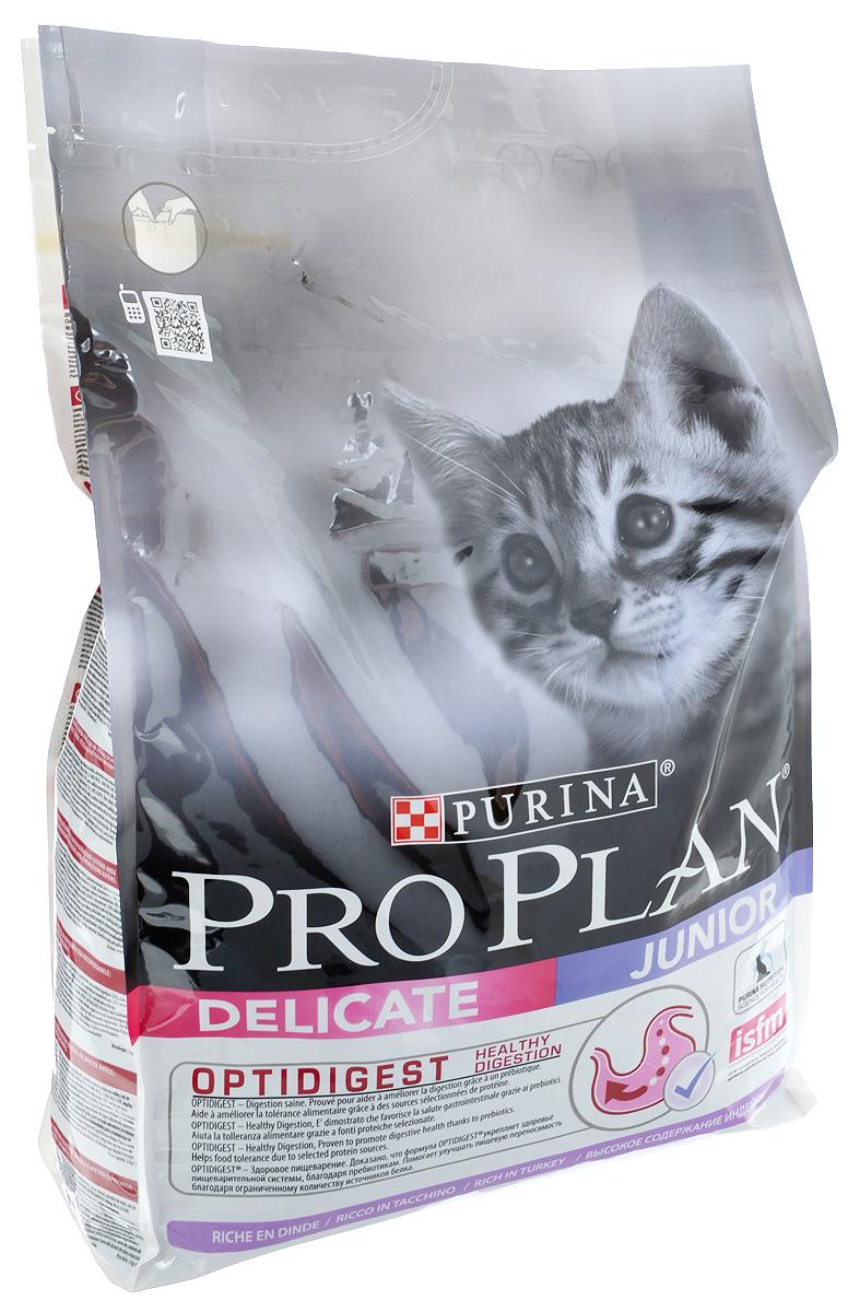 Корм сухой Pro Plan Delicate, для котят с чувствительным пищеварением, с индейкой, 3 кг12293285Сухой корм Pro Plan Delicate - полнорационный корм для котят с чувствительным пищеварением. Правильное функционирование пищеварительной системы имеет важное значение для получения питательных веществ, необходимых вашему котенку для развития и роста. Корм с комплексом Optidigest повышает здоровье пищеварительной системы котят, испытывающих дискомфорт в желудочно-кишечном тракте. Клинически доказано: Optidigest содержит отобранный источник пребиотиков для улучшения баланса микрофлоры кишечника. Корм легко усвояемый, обладает замечательными вкусовыми свойствами и придется по вкусу даже самым капризным котятам.