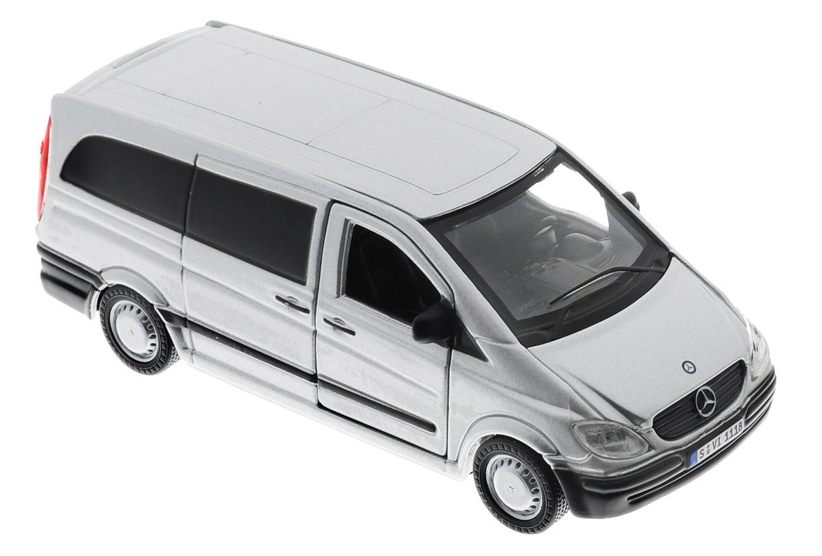 Bburago Модель автомобиля Mercedes-Benz Vito18-43000_серыйМодель автомобиля Bburago Mercedes-Benz Vito будет отличным подарком как ребенку, так и взрослому коллекционеру. Благодаря броской внешности, а также великолепной точности, с которой создатели этой модели масштабом 1:32 передали внешний вид настоящего автомобиля, модель станет подлинным украшением любой коллекции авто. Машинка будет долго служить своему владельцу благодаря металлическому корпусу с элементами из пластика. Передние дверцы машины открываются, прорезиненные шины обеспечивают отличное сцепление с любой поверхностью пола. Модель автомобиля Bburago Mercedes-Benz Vito обязательно понравится вашему ребенку и станет достойным экспонатом любой коллекции.