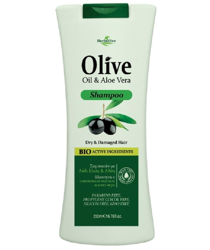 HerbOlive Шампунь для сухих волос с алоэ-вера 200 мл5200310400810Шампунь Herbolive с экстрактом алое вера, питает волосы у корней, обеспечивает сбалансированный уход за волосами и кожей головы. Оливковое масло и насыщенная травяная база питают минералами и витаминами кожу головы, содействует здоровому роста волос. Мягко и эффективно очищает волосы, повышет прочность и эластичность, обеспечивая дополнительный объем и блеск. Косметика произведена в Греции на основе органического сырья, НЕ СОДЕРЖИТ минеральные масла, вазелин, пропиленгликоль, парабены, генетически модифицированные продукты (ГМО)