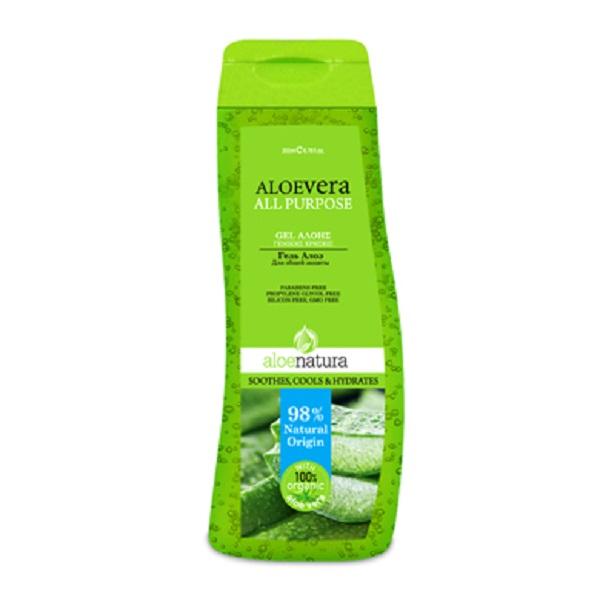 AloeNatura Натуральный гель-экстракт алоэ-вера защитный увлажняющий, 200 мл5200310403347Гель для тела оказывает успокаивающее действие за счет содержания органического экстракта алоэ, аллантоина, витаминам Е и В5, глицерину. Легко наносится, быстро впитывается, защищает и увлажняет раздраженные области. Может использоваться для небольших ожогов, раздражений, для сухой кожи всего тела. Способствует скорейшему восстановлению и заживлению кожи, обеспечивает ощущения свежести. Косметика произведена в Греции на основе органического сырья, НЕ СОДЕРЖИТ минеральные масла, вазелин, пропиленгликоль, парабены, генетически модифицированные продукты (ГМО)
