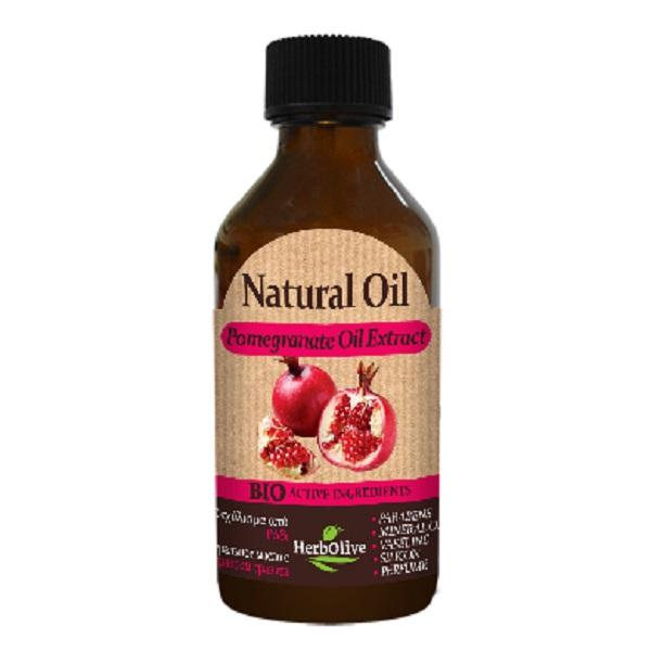 HerbOlive Натуральное масло с экстрактом граната 100 мл5200310405136Масло с экстрактом органического граната является прекрасным средством для подтяжки кожи. Оно отлично подходит для предотвращения послеродовых растяжек, а массаж с гранатовым маслом полезен для улучшения тонуса груди. Экстракт граната применяют для эффективного отбеливания кожи лица, устранения веснушек, пигментных пятен и угрей. Оно обладают антибактериальным, антивирусным и противогрибковым свойствами. Кроме того, гранатовый сок сужает поры и с его помощью можно быстро и эффективно решить проблемы жирной кожи. Косметика произведена в Греции на основе органического сырья, НЕ СОДЕРЖИТ минеральные масла, вазелин, пропиленгликоль, парабены, генетически модифицированные продукты (ГМО)