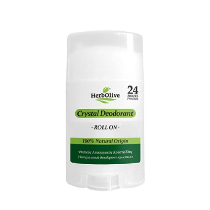 HerbOlive Дезодорант для тела Кристалл натуральный роллер 70 г5200310405372Дезодорант Кристалл, является великолепным способом борьбы с нежелательными запахами. Он естественным образом действуют против бактерий, предлагая защиту и непревзойденную свежесть 24 часа. Немного смочите камень перед использованием и нанесите на чистую и сухую кожу подмышек или ног. Косметика произведена в Греции на основе органического сырья, НЕ СОДЕРЖИТ минеральные масла, вазелин, пропиленгликоль, парабены, генетически модифицированные продукты (ГМО)