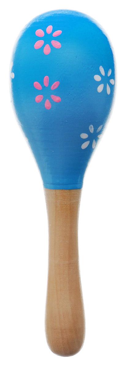 Игрушки из дерева Маракас ЦветыД209_голубой, цветочкиМаракас Игрушки из дерева Цветы может выступать в качестве погремушки, а также он прекрасно подойдет для занятий музыкальным творчеством. При потряхивании маракас издает характерный гремящий звук. Маракас изготовлен из высококачественного натурального дерева. Игрушка помогает малышам развить чувство ритма, творческое мышление и воображение, а также способствует самовыражению.