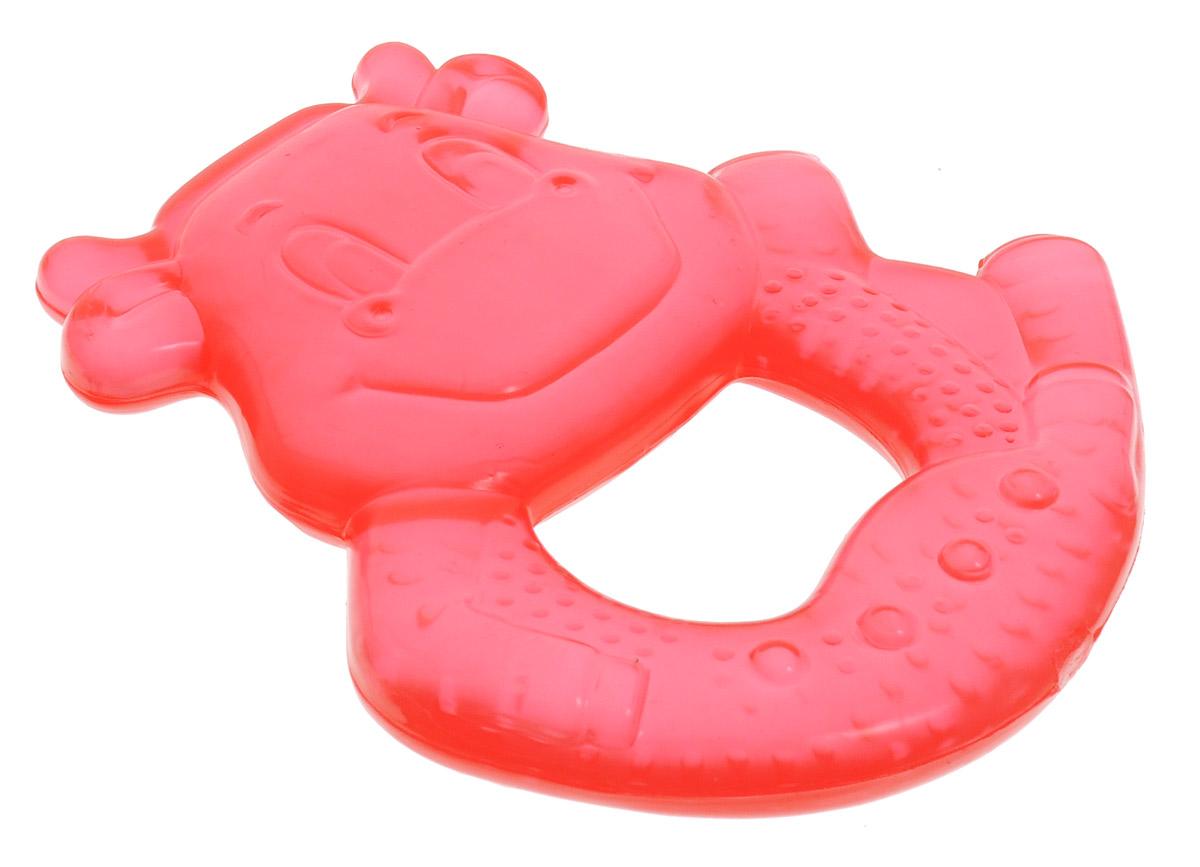 Canpol Babies Прорезыватель Бегемот охлаждающий цвет красный