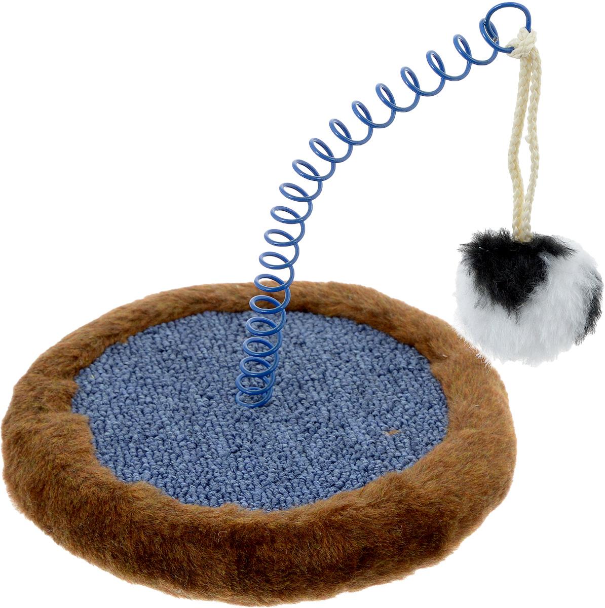 Когтеточка Зоомарк Мини, с игрушкой, цвет: коричневый, синий4Когтеточка ЗооМарк Мини, изготовленная из деревянного каркаса, искусственного меха и ковролина, поможет сохранить мебель и ковры в доме от когтей вашего любимца, стремящегося удовлетворить свою естественную потребность точить когти. Товар продуман в мельчайших деталях и, несомненно, понравится вашей кошке. Компактная когтеточка обладает поверхностью для стачивания коготков. Кроме того, во время царапания происходит нагрузка на мышечный аппарат, что является прекрасной физической тренировкой для животного. А также на когтеточке ЗооМарк Мини стачиваются старые омертвевшие слои когтей, что благотворно влияет на здоровье и настроение питомца. Это намного безопаснее, чем подстригать когти ножницами или специальными щипцами, рискуя повредить ногтевую пластину и причинить животному дискомфорт. Встроенная в когтеточку забавная игрушка несомненно привлечет вашего питомца и подарит ему радость приятного времяпрепровождения, а ваша мебель будет цела и...