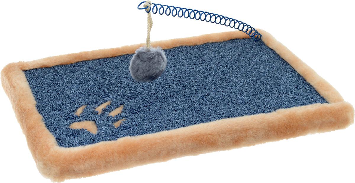 Когтеточка ЗооМарк Коврик, напольная, цвет: бежевый, синий, 40 х 25 см5_бежевыйКогтеточка ЗооМарк Коврик, изготовленная из деревянного каркаса, искусственного меха и ковролина, поможет сохранить мебель и ковры в доме от когтей вашего любимца, стремящегося удовлетворить свою естественную потребность точить когти. Товар продуман в мельчайших деталях и, несомненно, понравится вашей кошке. Компактная когтеточка обладает поверхностью для стачивания коготков. Кроме того, во время царапания происходит нагрузка на мышечный аппарат, что является прекрасной физической тренировкой для животного. А также на когтеточке ЗооМарк Коврик стачиваются старые омертвевшие слои когтей, что благотворно влияет на здоровье и настроение питомца. Это намного безопаснее, чем подстригать когти ножницами или специальными щипцами, рискуя повредить ногтевую пластину и причинить животному дискомфорт. Встроенная в когтеточку забавная игрушка несомненно привлечет вашего питомца и подарит ему радость приятного времяпрепровождения, а ваша мебель будет цела и...