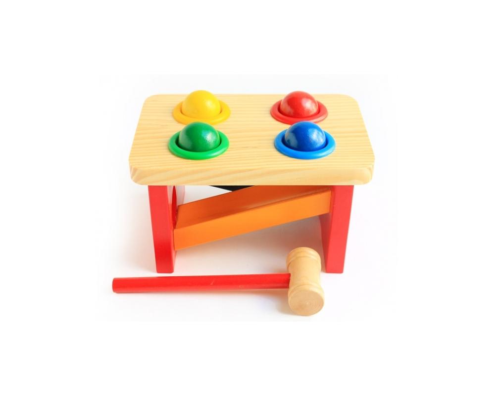 Мир деревянных игрушек Игровой набор Стучалка Горка Шарики