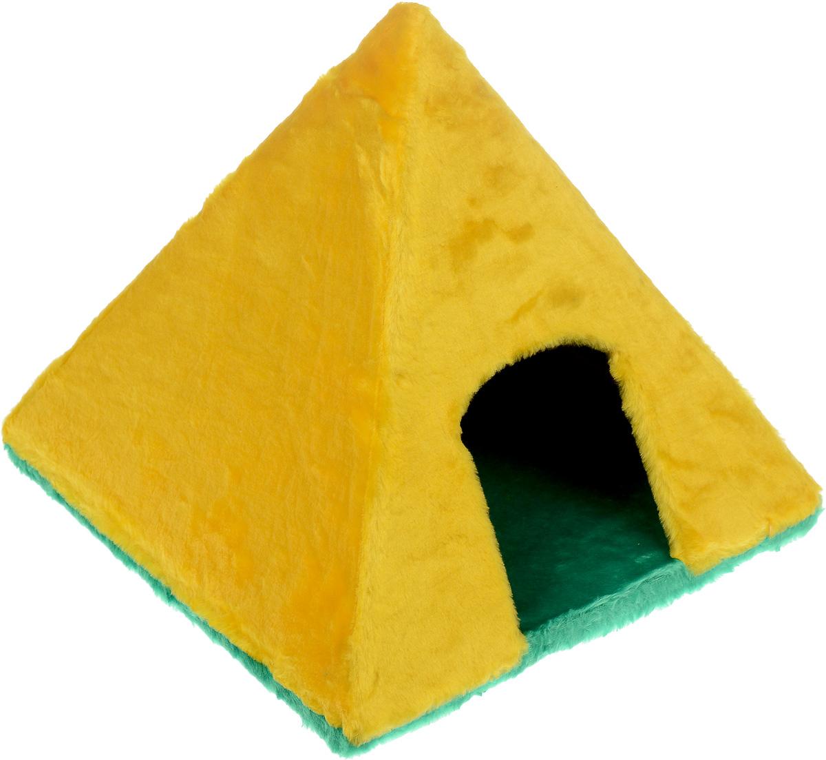 Домик для животных ЗооМарк Пирамидка, 41 х 41 х 37 смД-13Домик ЗооМарк Пирамидка непременно станет любимым местом отдыха вашего домашнего животного. Он изготовлен из высококачественного дерева и обтянут искусственным мехом. Домик выполнен в виде пирамиды, стоящей на траве. Оригинальный домик для животных - отличное место, чтобы спрятаться. Также там можно хранить свои охотничьи трофеи.