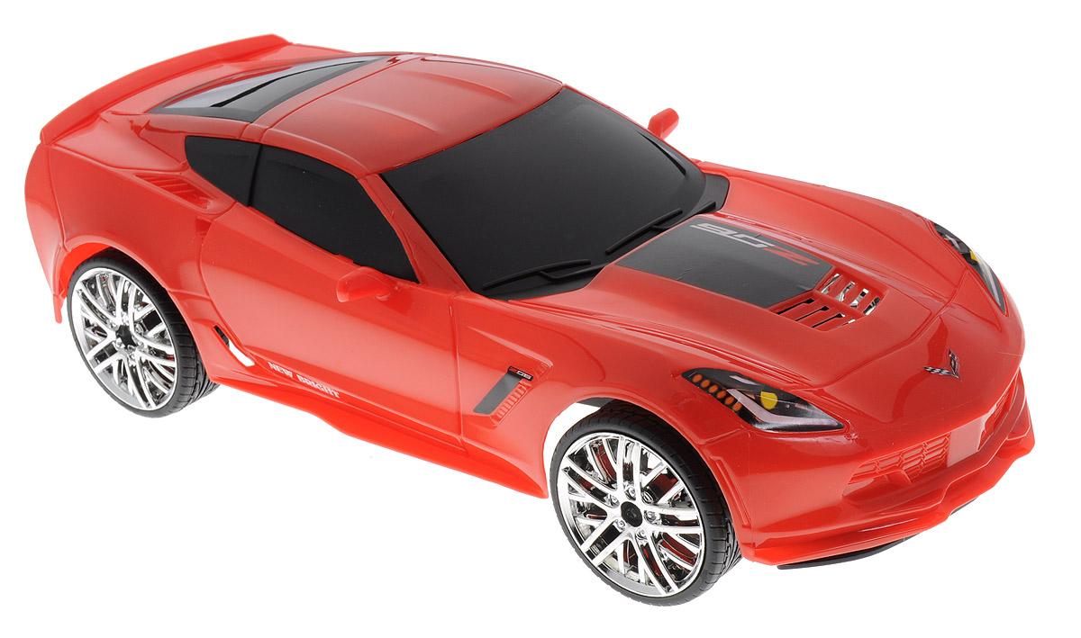 New Bright Радиоуправляемая модель Corvette Z0661222Z06Радиоуправляемая модель New Bright Corvette Z06- это воплощение скорости. Маневренная и реалистичная уменьшенная копия реального авто выполнена в точной детализации в масштабе 1:12. Управление машинкой происходит с помощью пульта. Машинка двигается вперед и назад, поворачивает направо и налево. Колеса игрушки прорезинены и обеспечивают плавный ход, машинка не портит напольное покрытие. Специальная частота работы пульта (2,4 GHz) позволит вам не терять контроль даже на больших расстояниях. А возможность зарядки через USB-кабель, который входит в комплект позволит зарядить аккумулятор даже от ноутбука. Радиоуправляемые игрушки способствуют развитию координации движений, моторики и ловкости. Ваш ребенок с удовольствием будет играть с моделью, придумывая различные истории и устраивая соревнования. Порадуйте его таким замечательным подарком! Машина работает от встроенного аккумулятора - 6,4V. Пульт управления работает от 2 батареек типа АА...