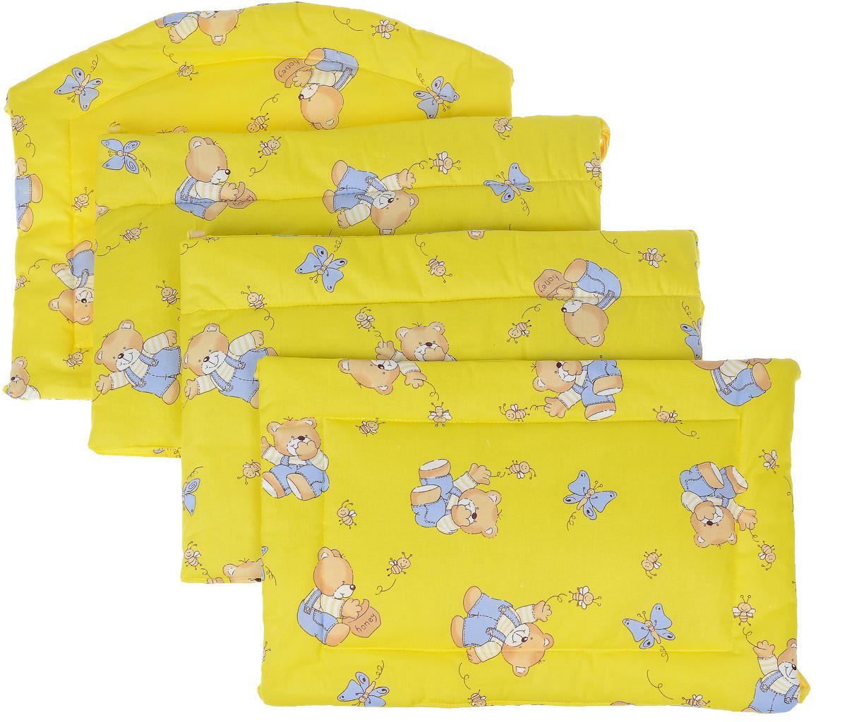 Фея Борт комбинированный 405 Мишка цвет желтый1045_желтыйКомбинированный бортик в кроватку Фея Мишка выполнен из высококачественных материалов. Бортик крепится к кроватке с помощью специальных завязок, благодаря чему его можно поместить в любую детскую кроватку. Он защитит малыша от сквозняков, а когда ребенок подрастет и начнет вставать - от ударов при возможных падениях. Малыш с удовольствием будет разглядывать забавные рисунки, красочный бортик в кроватку выполняет эстетическую функцию, делая внешний вид кроватки еще прекраснее. Бортик обеспечит изолированность и уют внутри кроватки для малыша во время его отдыха.