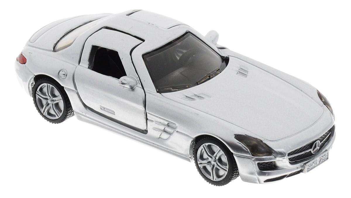 Siku Модель автомобиля Mercedes-Benz SLS AMG1445Модель автомобиля Siku Mercedes-Benz SLS AMG выполнена в виде точной копии реального автомобиля. Такая модель понравится не только ребенку, но и взрослому коллекционеру, и приятно удивит вас высочайшим качеством исполнения. Модель выполнена из металла с элементами из пластика. Колеса имеют свободный ход, дверцы открываются. Отличный подарок для любителей автомобилей!