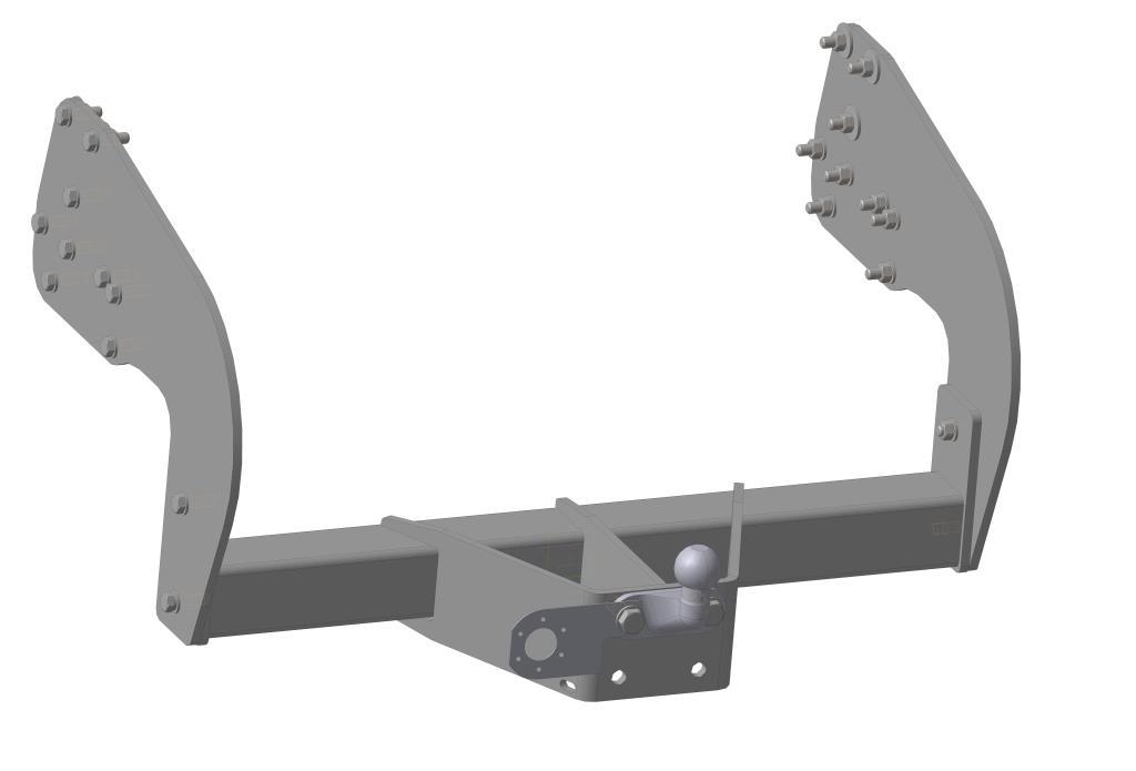 ТСУ + кронштейны на Газель Next Pickup / Van 2013- (две части)5613-FТип шара F – съемный, кованый шар с 2 отверстиями, грузоподъемность 3500 кг