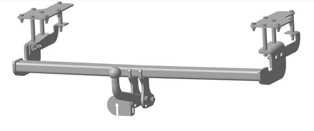 Фаркоп Bosal для Suzuki SX4, Fiat Sedici 2006->..., горизонтальная/вертикальная нагрузка на шар 1200/75 (вырез в бампере), 2851-A