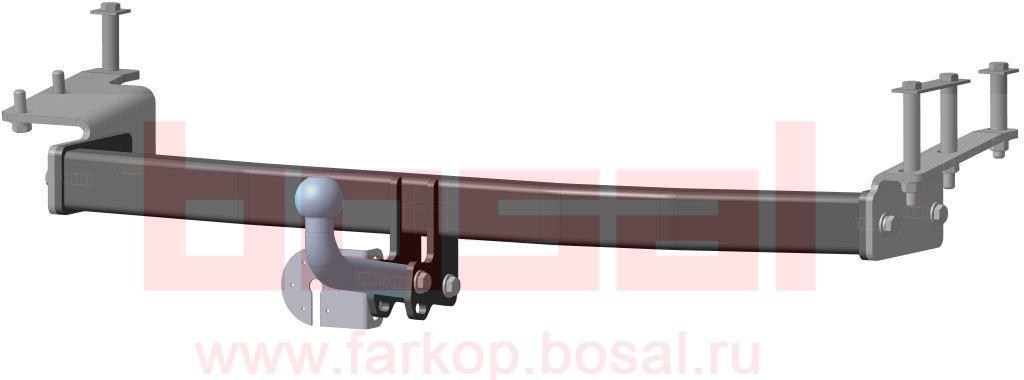 Фаркоп Bosal для Lifan Solano sedan 2008->..., горизонтальная/вертикальная нагрузка на шар 1200/60 (без электрики), 3309-A3309-AТип шара А – съемный на двух болтах шар, грузоподъемность 1500 кг.