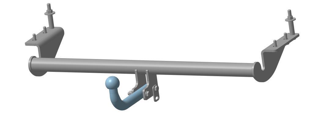 Фаркоп Bosal для Geely MK 2006->..., горизонтальная/вертикальная нагрузка на шар 1100/50, 9001-A9001-AТип шара А – съемный на двух болтах шар, грузоподъемность 1500 кг.