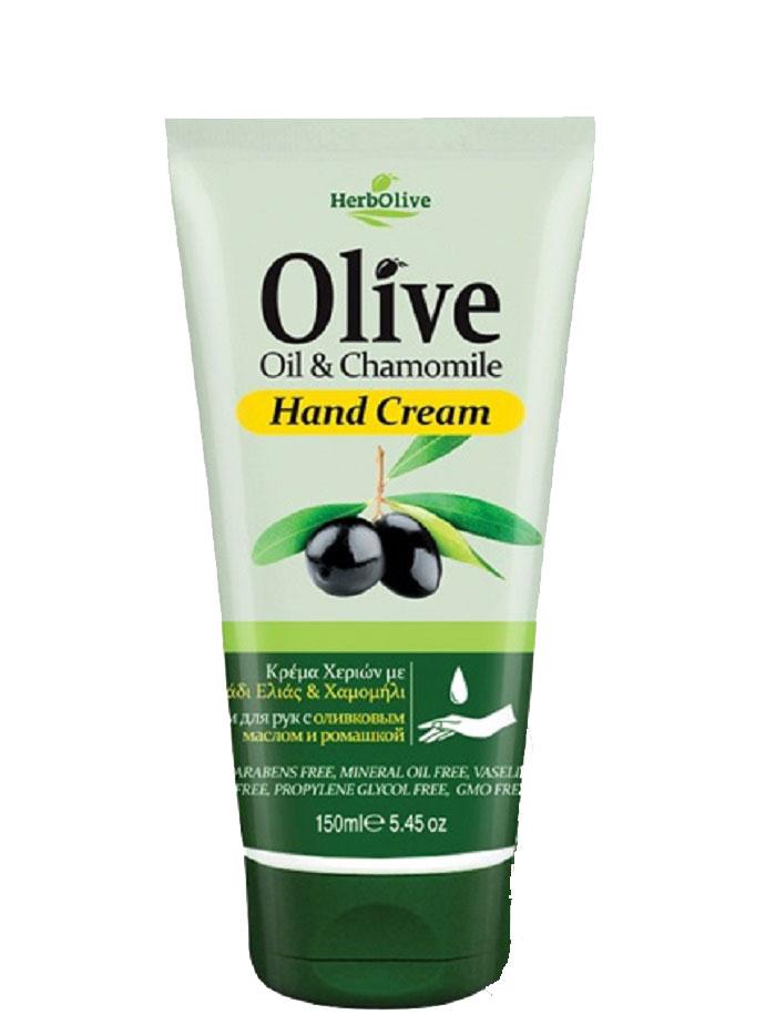 HerbOlive Крем для рук с экстрактом ромашки 150 мл5200310401091Крем для рук с ромашкой, на основе органического масла оливы идеально подходит для ежедневного использования. Легко впитывается увлажняет и смягчает кожу рук, защищает от образования кутикул, трещин и ежедневного воздействия внешней агрессивной среды. Увлажняет руки, делая их мягкими и гладкими. Косметика произведена в Греции на основе органического сырья, НЕ СОДЕРЖИТ минеральные масла, вазелин, пропиленгликоль, парабены, генетически модифицированные продукты (ГМО)