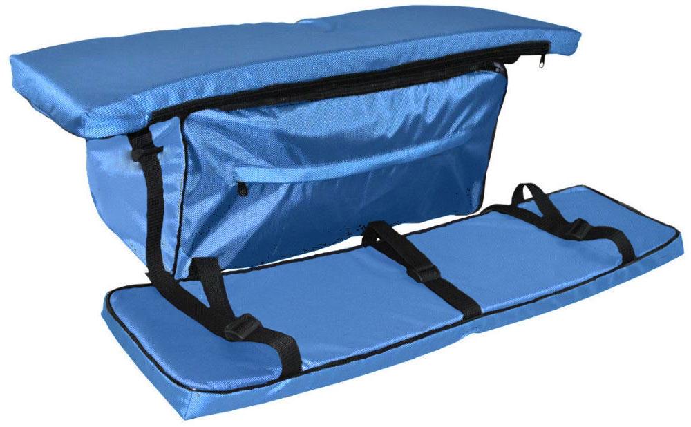 Накладка AG-brand на банку с сумкой, 80х20, цвет: голубойAG-UNI-MA-BB80*20-TCКомплект включает в себя 2 мягкие накладки на доску и 1 сумку. Размер накладок 80х20см Комплект изготовлен из водонепроницаемой и долговечной ткани с PVC покрытием. В накладках установлен поролон толщиной 40мм. Сумка под банку крепится к накладке при помощи молнии. Сумка - прекрасное дополнительное место для хранения в вашу лодку!