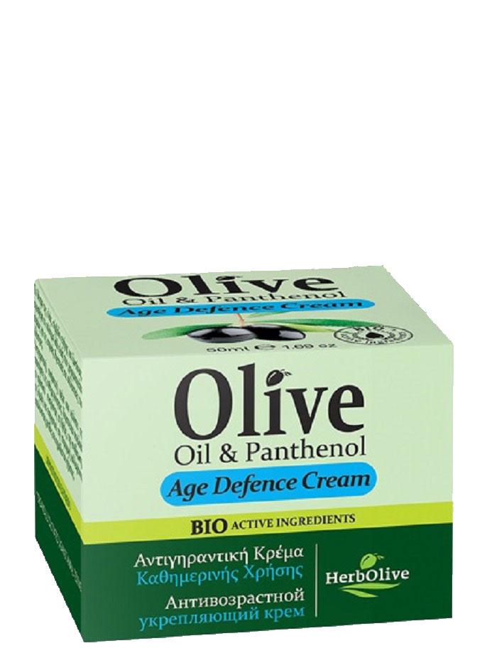 HerbOlive Крем для лица антивозрастной укрепляющий с пантенолом 50 мл5200310401367Крем для лица с пантенолом. Рекомендуется применять с 30 лет. Крем антивозрастной защитный крем. Подходит для увядающей кожи. Содержит UF фильтр, предотвращающий старение кожи Масло сладкого миндаля, масло ши, витамин Е, пантенол питают и увлажняют кожу, экстракт витекса оказывает противовоспалительное тонизирующее средство, прекрасно подходит для увядающей кожи, уставшей кожи, повышает эластичность. Косметика произведена в Греции на основе органического сырья, НЕ СОДЕРЖИТ минеральные масла, вазелин, пропиленгликоль, парабены, генетически модифицированные продукты (ГМО)