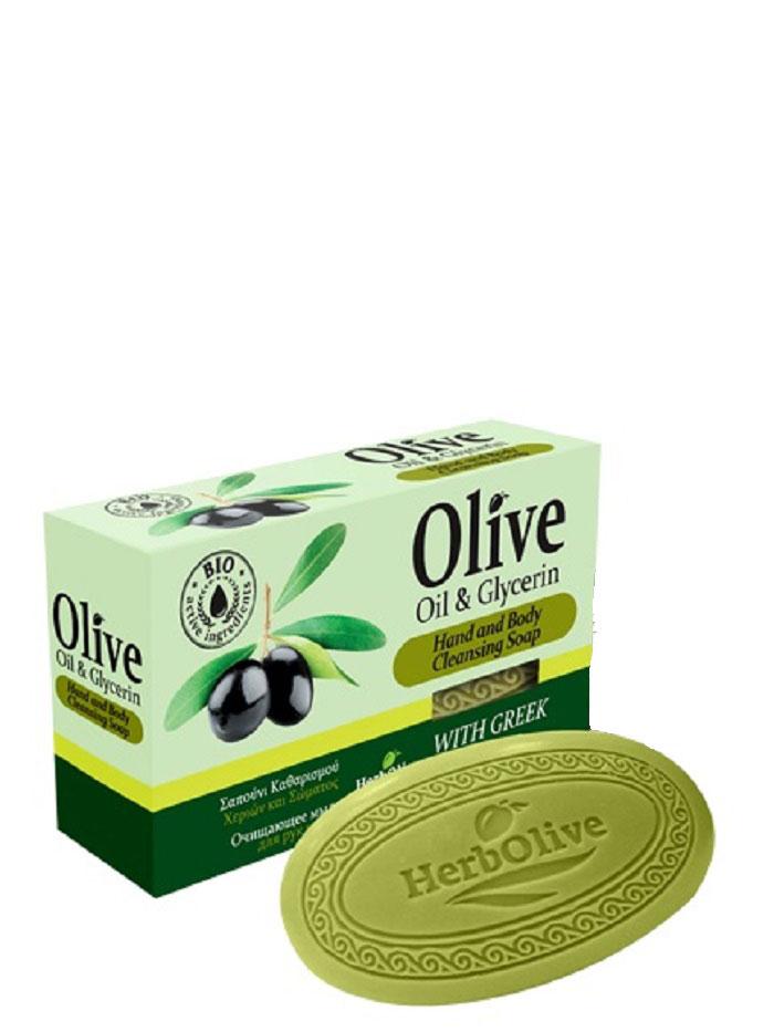 HerbOlive Оливковое мыло с глицерином 90 г5200310401749Природные антиоксиданты которые содержатся в оливковом мыле увлажняют и питают кожу. Натуральное оливковое мыло, производится без искусственных красителей и химических добавок, стимулируют новые клетки к регенерации и замедляет старение. В то же время смягчает кожу и облегчает многие заболевания, включая акне, экзему. Косметика произведена в Греции на основе органического сырья, НЕ СОДЕРЖИТ минеральные масла, вазелин, пропиленгликоль, парабены, генетически модифицированные продукты (ГМО)