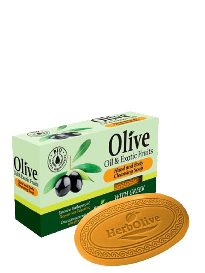 HerbOlive Оливковое мыло с экзотическими фруктами 90 г5200310401787Природные антиоксиданты которые содержатся в оливковом мыле увлажняют и питают кожу. Натуральное оливковое мыло, производится без искусственных красителей и химических добавок, стимулируют новые клетки к регенерации и замедляет старение. В то же время смягчает кожу и облегчает многие заболевания, включая акне, экзему. Косметика произведена в Греции на основе органического сырья, НЕ СОДЕРЖИТ минеральные масла, вазелин, пропиленгликоль, парабены, генетически модифицированные продукты (ГМО)