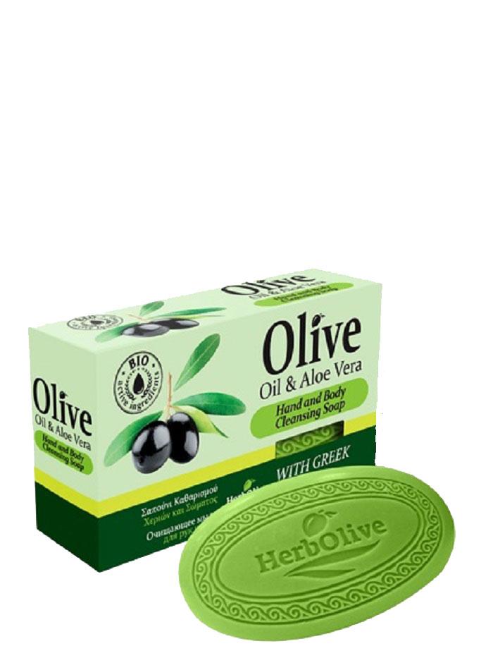 HerbOlive Оливковое мыло с алоэ-вера 90 г5200310401794Природные антиоксиданты которые содержатся в оливковом мыле увлажняют и питают кожу. Натуральное оливковое мыло, производится без искусственных красителей и химических добавок, стимулируют новые клетки к регенерации и замедляет старение. В то же время смягчает кожу и облегчает многие заболевания, включая акне, экзему. Косметика произведена в Греции на основе органического сырья, НЕ СОДЕРЖИТ минеральные масла, вазелин, пропиленгликоль, парабены, генетически модифицированные продукты (ГМО)