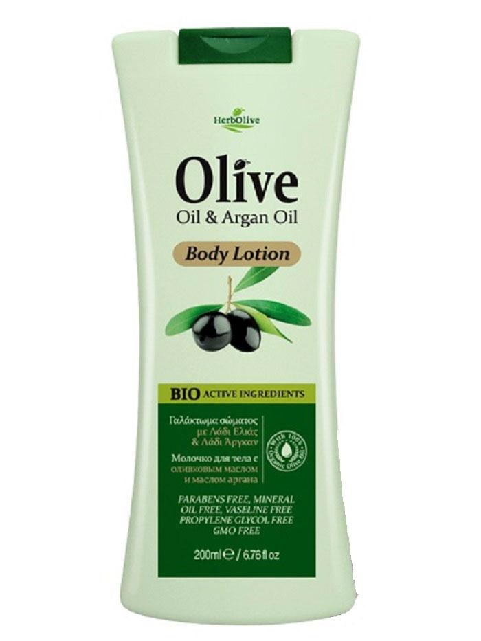 HerbOlive Молочко для тела с маслом арганы 200 мл5200310402500Входящие в состав масло арганы, органическое оливковое масло, подсолнечное масло, глицерин известны своими увлажняющими, антивозрастными и успокаивающими свойствами. Они питают и увлажняют кожу, оживляя ее и даря ей сияние, ощущение бодрости и свежести. Рекомендуется для ежедневного ухода. Легко впитывается по всей поверхности тела, обеспечивая мягкое увлажнение. Косметика произведена в Греции на основе органического сырья, НЕ СОДЕРЖИТ минеральные масла, вазелин, пропиленгликоль, парабены, генетически модифицированные продукты (ГМО)