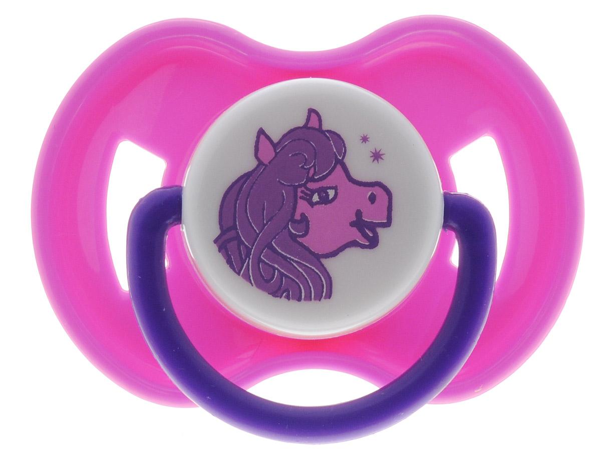 Lubby Пустышка латексная Веселые животные Пони от 6 месяцев
