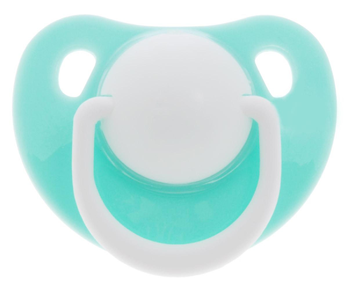 Lubby Пустышка силиконовая Классика от 0 месяцев цвет светло-бирюзовый ( 13956_светло-бирюзовый )