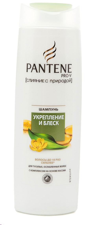 Pantene Pro-V Шампунь Слияние с природой. Укрепление и блеск, для ослабленных волос, 400 млPT-81325071