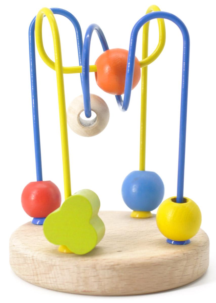 Мир деревянных игрушек Лабиринт № 4Д192Развивающая игрушка Лабиринт с бусинками №4 от российского производителя Мир Деревянной Игрушки легко привлечет внимание вашего ребенка необычной формой и яркими красками. Игра поможет выучить формы и цвета, развить пространственное мышление, логику, воображение, координацию, внимание.